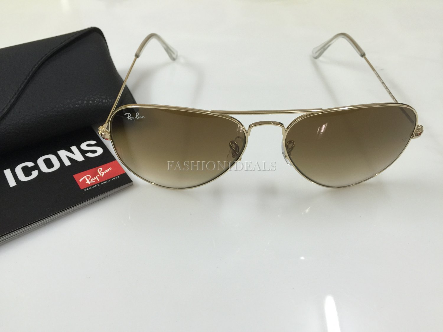100% AUTHENTIC RAY BAN 3025 001/51 BROWN GRADIENT AVIATOR SUNGLASSES!