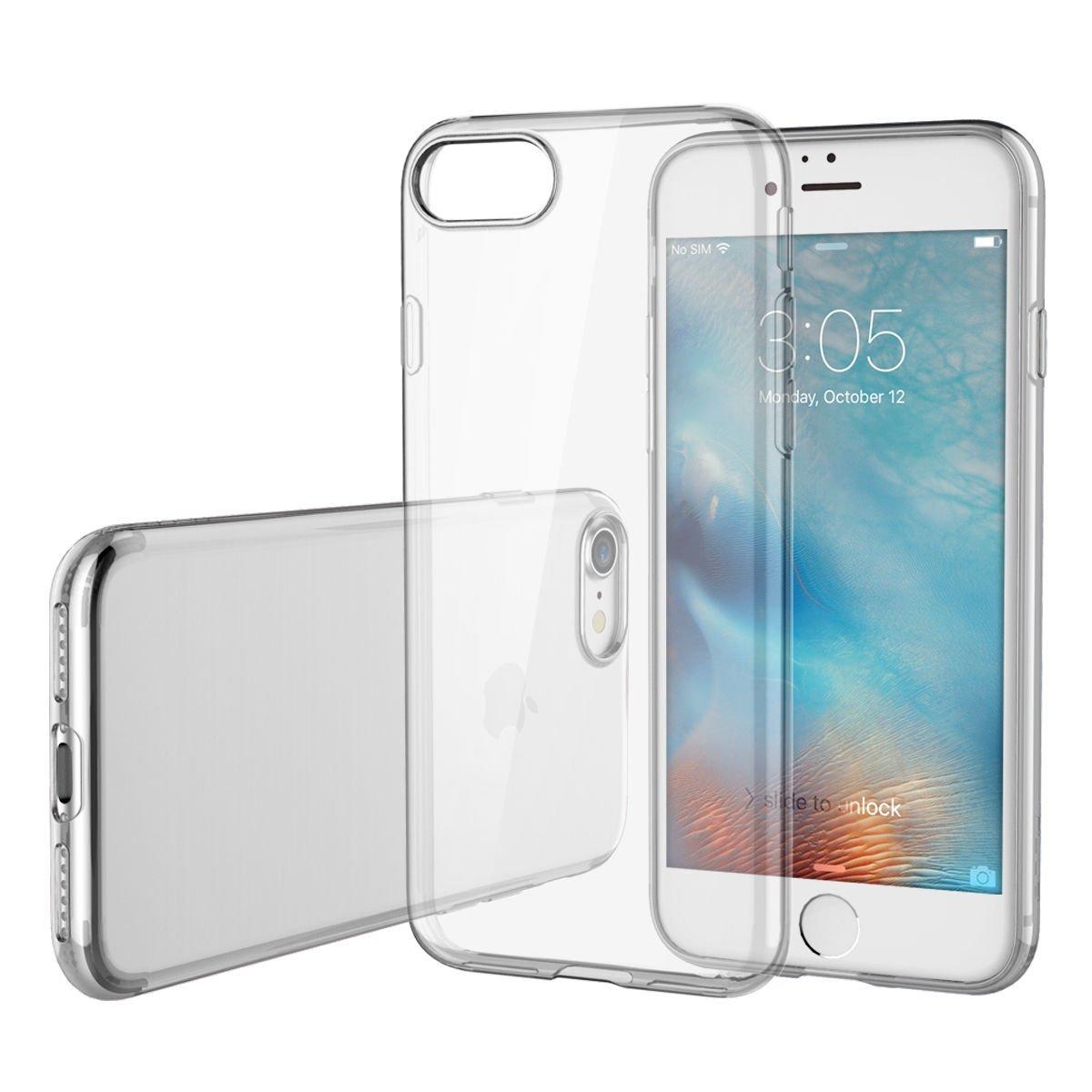For iPhone 7 Plus Ultra Thin Soft Transparent Slim Anti Slip Case