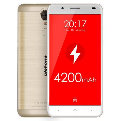 Ulefone Tiger Android 6.0 5.5 inch Corning Gorilla Glass 3 Screen 4G Phablet MTK6737 GOLDEN