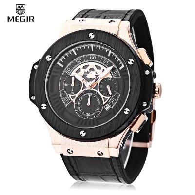 MEGIR 2035 Men Quartz Watch  -  GOLDEN