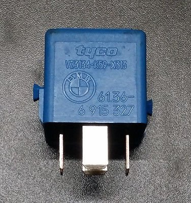BMW E34 E36 E38 E39 E46 E53  RELAY made by TYCO / SIEMENS 61366915327 BLUE OEM