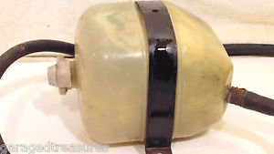 84 FIAT 124 SPIDER 2000 COOLANT OVERFLOW RECOVERY BOTTLE RESERVOIR  CAP, BRACKET