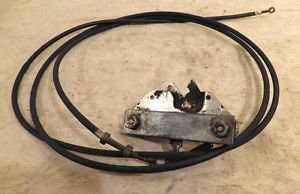 Alfa Romeo Spider trunk Lid lock latch and Release cable