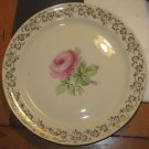 "Vtg Taylor Smith Taylor Pink Flower Center 9 1/8"" Dinner Plate Replacement"