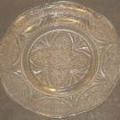 """Vintage Clear Pressed Glass Floral Design 10"""" Dinner Luncheon Plate Replacement"""