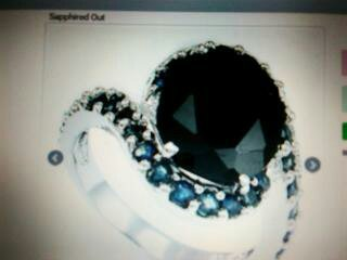 Sapphire Ring 14k white gold/sterling silver, size 7  .SALE 100.00 off