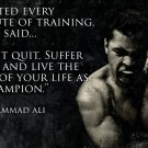 Muhammad Ali - Don't Quit Motivational Quotes Art Silk Printing Poster New