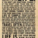 This Is Your Life - Motivational Inspirational Quote Contracted Canvas Poster