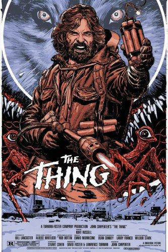 The Thing (1982) John Carpenter Cult Horror Movie Single-Sided Silk Poster New