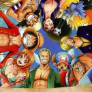 One Piece OP Monkey D Luffy Fighting Japan Anime Comic Poster Silk Printing New
