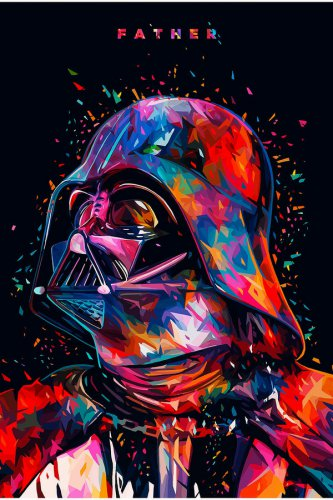 Star Wars Seven The Force Awakens Darth Vader Movie Silk Print Poster Brand New