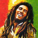 Bob Marley Oil Painting Style Art Wall Home Deco Silk Poster 24x24inch Brand New