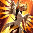 Overwatch Sexy Mercy Copslay Heroes Hot Game Art Print Silk Poster 36X24inch New