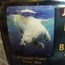 POLAR BEAR OCEAN DIVE SWIM QUEEN SIZE BLANKET BEDSPREAD