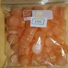 100 Light Orange Gatorade Caps