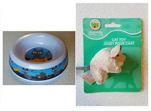 Food Bowl and Cat Toy for your Pet  - Brand New