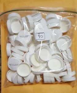 90 White Plastic Caps for Crafts