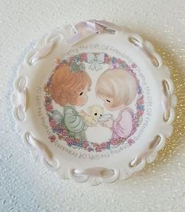 """Precious Moments Plate  """"Sharing The Gift Of Friendship Plate"""""""