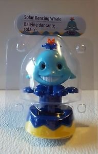 Solar Powered Dancing Blue Whale   BRAND NEW