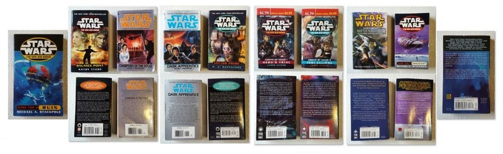 Lot of 9 Star Wars Books, Paperback