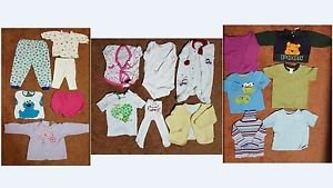 Clothing Lot: 18 Toddler Boys/Girls Shirt,Onsie,Pooh,Cookie Monster,Rolling Eyes
