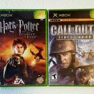 PRICE LOWERED Harry Potter-Goblet of Fire & Call of Duty Finest Hour (Xbox 2005)