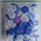 150 Water Bottle Caps Lids Plastic Arts Crafts Reuse Recycle