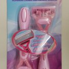 Women's Pink Twin Pack 6 Blade Disposable Pivoting Head Razors by Reliashave