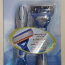 Men's Blue Twin Pack 6 Blade Disposable Pivoting Head Razors by Reliashave