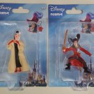 2 Disney Villains Figurines: Cruella and Hook  FREE SHIPPING