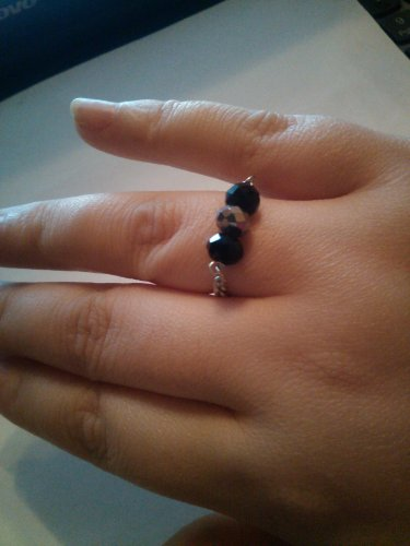 chain and crystal ring size 7/8