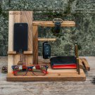 Male organizer, iPhone stand, iPhone base, iPhone wooden base, watch wooden holder