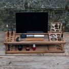 Make up wooden organizer, make up organizer, make up wood organizer, walnut organizer