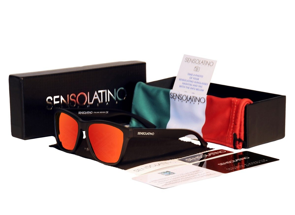 Sensolatino Italian Polarized Sunglasses Urbino Red