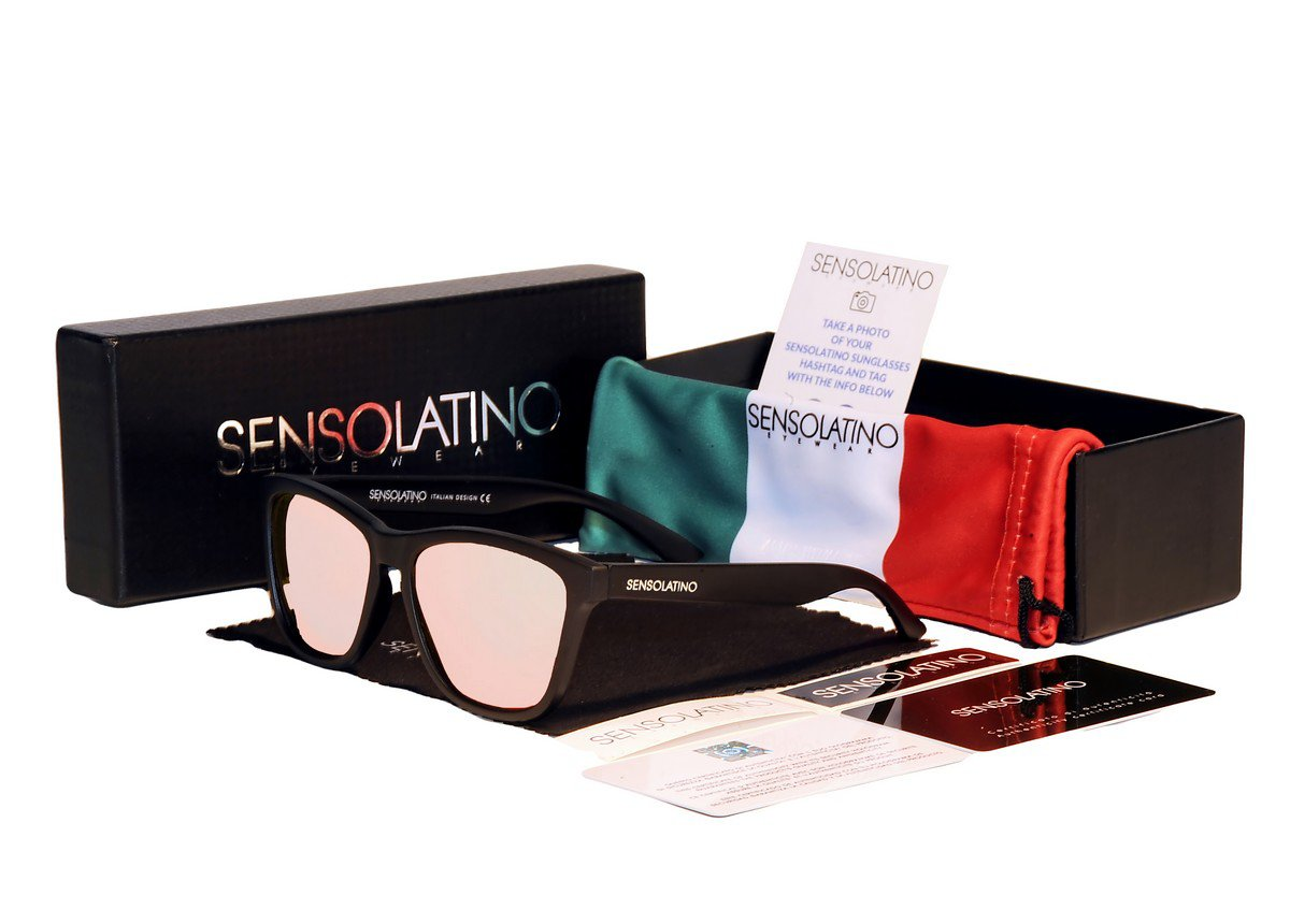 Sensolatino Italian Polarized Sunglasses Favignana Fuchsia