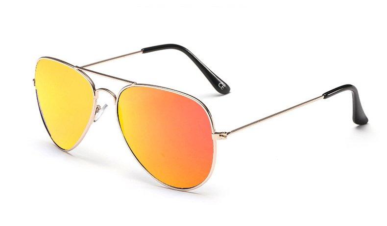 Sensolatino Italian Polarized Sunglasses Aviator Aviano Gold S Orange