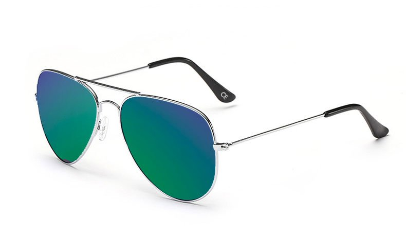 Sensolatino Italian Polarized Sunglasses Aviator Aviano Gold S Blue Green