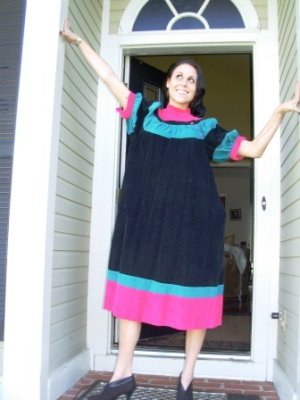 Vintage Colorful Corduroy Dress