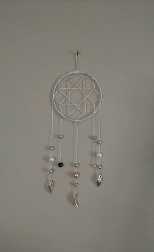 Silver and Pearl Dreamcatcher