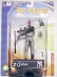 New York Yankees Derek Jeter 4 inch Replays Figure MOC 2007