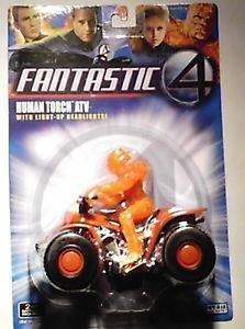 Marvel Comics Fantastic Four Johhny Storm Human Torch figure on Motorcycle MOC