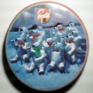 Coke Coca Cola Round Polar Bears Winter Scene Tin w/ Lid 1993
