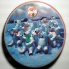 Coke Coca Cola Round Polar Bears Winter Scene Tin w/ Lid 1993
