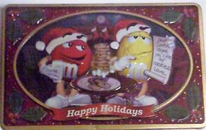 M&M 's 16 ounce square Christmas Tin