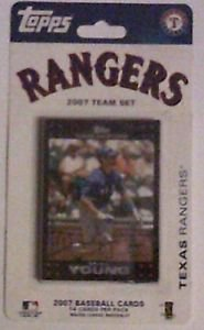 Topps Texas Rangers Team set 14 cards 2007 unopened package