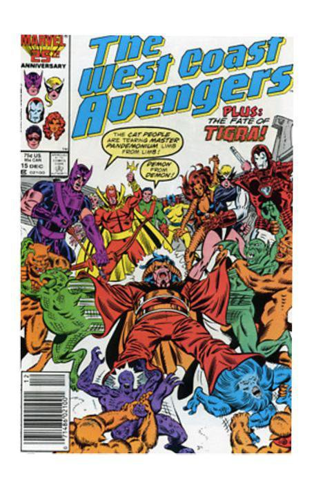 Marvel Comics West Coast Avengers #15 (Dec 1986, Marvel) VF/NM
