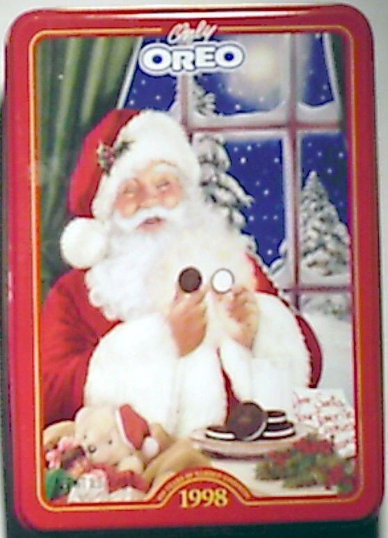 Oreo 1998 Limited Edition Christmas Tin w/ Santa