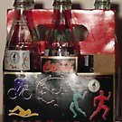 Coke Coca Cola 1996 Olympics 5 Bottles 8oz w/ caddy