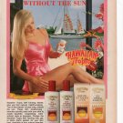 Hawiian Tropic Suntan lotion Full Page Printed Ad March 1993 Glamour Magazine