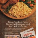 Lipton Noodle and Sauce Full Page Print Ad Glamour March 1993